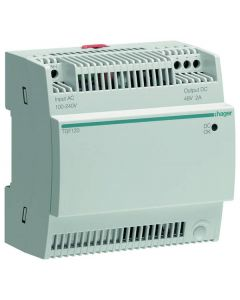 Hager TGF120 Voeding voor PoE Switch 2A/48V