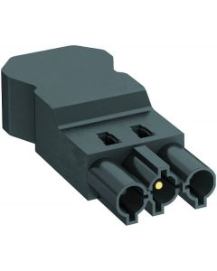 OBO ST-S4 Gst18i3 SW male connector 3 pins schroefverbinding PA zwart 6108060